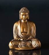 Japanese Sitting Buddha in Bronze color