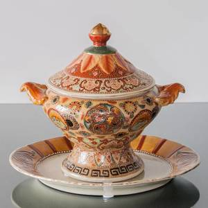 Chinese tureen with leaves | No. 06-85-37-2 | DPH Trading