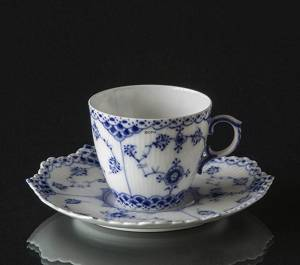 Blue Fluted, Full Lace, espresso cup