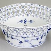 Blue Fluted, Full Lace, round bowl 19cm