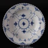 Blue Fluted, Full Lace, soup Plate 25 cm, Royal Copenhagen