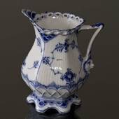 Blue Fluted, Full Lace, Cream jug, large, Royal Copenhagen