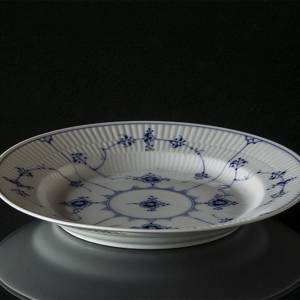 Blue Fluted, Plain, Flat Plate 21 cm Rare | No. 1-186 | DPH Trading