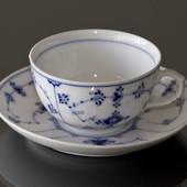 Blue Fluted, Plain, Teacup / Coffee cup 1dl
