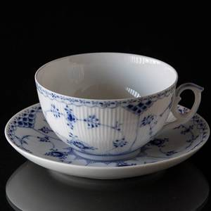 Blue Fluted, Half Lace, Large Bredkfast cup with saucer, Royal Copenhagen | No. 1-524 | DPH Trading