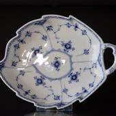 Blue Fluted, Half Lace, Leafshaped Pickle Dish 27 cm, Royal Copenhagen