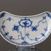 Blue Fluted, Half Lace, small dish 14cm