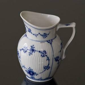 Blue Fluted, Plain, Cream Jug