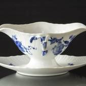 Blue Flower, Curved, Sauce boat on fixed stand, Royal Copenhagen