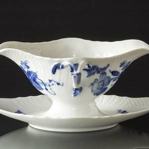 Blue Flower, Curved, Sauce boat on fixed stand, Royal Copenhagen | No. 10-1650 | DPH Trading