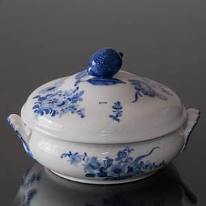 Blue Flower, Braided, roundl Dish with Cover | No. 10-8055 | DPH Trading
