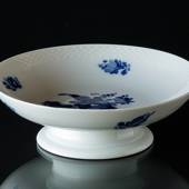 Blue Flower, braided, Round Cake Dish on low foot, Royal Copenhagen ø18cm