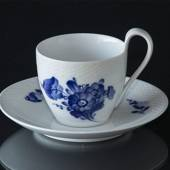 Blue Flower, Braided, High Handle cup and Saucer, capacity 2 dl., Roya...