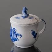 Blue Flower Braided, Mustard jar with lid (1889-1922)
