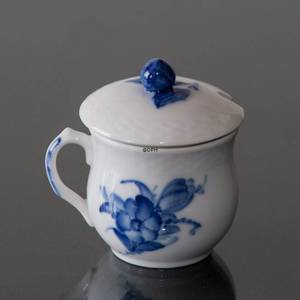 Blue Flower Braided, Mustard jar with lid | No. 10-8211 | Alt. 1107198 | DPH Trading