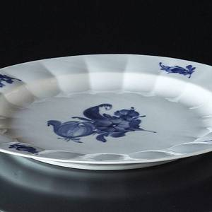Blue Flower, Angular, round Dish 33cm | No. 10-8543 | DPH Trading