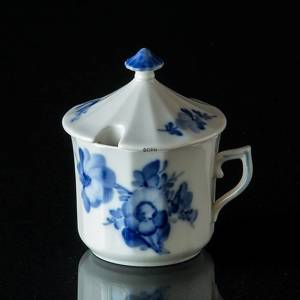 Blue Flower, Angular, Mustard Pot | No. 10-8586 | Alt. 10/8586 | DPH Trading