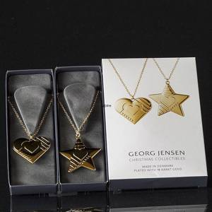 Heart and Star Georg Jensen Ornaments, set 2019 | Year 2019 | No. 10015305 | DPH Trading