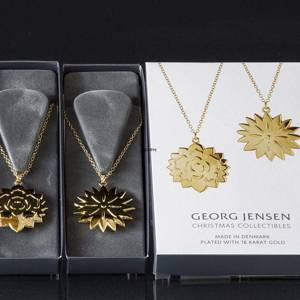 Ice Dianthus and Ice Rosette Georg Jensen Ornaments, set 2020 | Year 2020 | No. 10017706 | DPH Trading