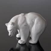 Standing powerful white Polar Bear, Royal Copenhagen figurine no. 21519
