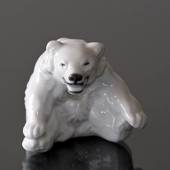 White Polar Bear Cub figurine, Royal Copenhagen no. 22746