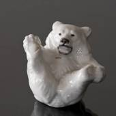 White Polar Bear Cub figurine, Royal Copenhagen no. 22747