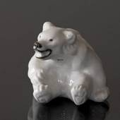 White Polar Bear Cub figurine, Royal Copenhagen no.22748
