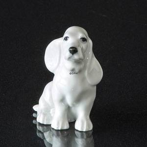 White dog looking up, Royal Copenhagen figurine