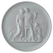 Thorvaldsen biscuit plate, Summer, Royal Copenhagen