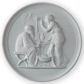 Thorvaldsen plaster plate, Winter, Royal Copenhagen
