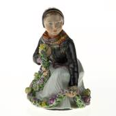 Amager girl, Royal Copenhagen overglaze figurine no. 12412