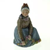 Fanoe Girl with Garland, Royal Copenhagen figurine no 12413