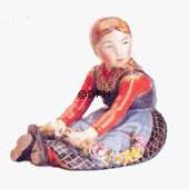 Girl from Jutland, Royal Copenhagen overglaze figurine no. 12421