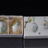 Easter egg with snowdrop and winter aconite, 2 pcs., Royal Copenhagen ...