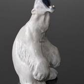 Polar Bear Roaring Looking Dangerous, Royal Copenhagen figurine no. 502
