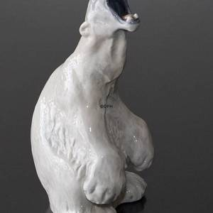 Polar Bear Roaring Looking Dangerous, Royal Copenhagen figurine no. 502 | No. 1020060 | Alt. R502 | DPH Trading