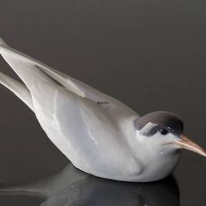 Tern Squatting, Royal Copenhagen bird figurine no. 827
