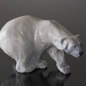 Polar Bear on the Prowl, Royal Copenhagen figurine no. 1137