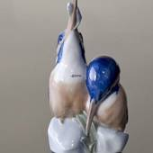 Pair of Kingfishers, Royal Copenhagen bird figurine no. 1769
