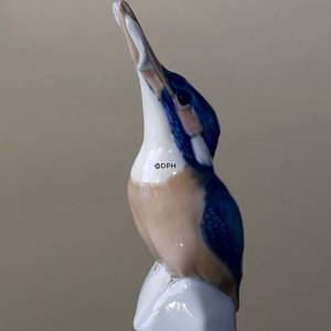 Kingfisher Royal Copenhagen, bird figurine no. 2257 | No. 1020126 | Alt. R2257 | DPH Trading