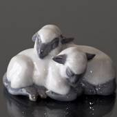 Pair of Little Lambs resting closely, Royal Copenhagen figurine no. 2769