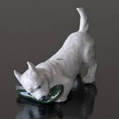 Dog with Slipper, Royal Copenhagen dig figurine no. 3476