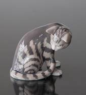 Cat sitting, Royal Copenhagen cat figurine