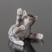 Tabby Kitten lying down, figurine