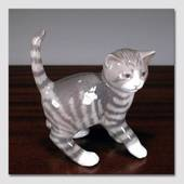 Tabby kitten standing, Royal Copenhagen cat figurine