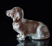 Bassethound, Royal Copenhagen dog figurine