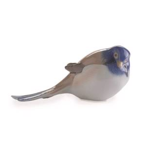 Titmouse Pessimist with tail down, Bing & Grondahl bird figurine no. 1635 | No. 1020411 | Alt. B1635 | DPH Trading