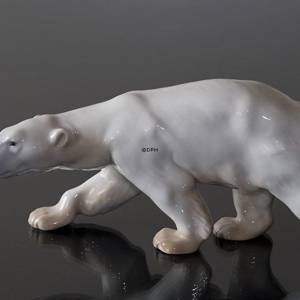 Polar Bear walking, Bing & Grondahl figurine no. 1785 | No. 1020425 | Alt. B1785 | DPH Trading