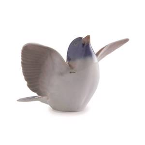 Titmouse with its wings spread out, Bing & Grondahl figurine no. 2481