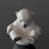 Polar Bear Cub sitting playfully, Bing & Grondahl figurine no. 2536